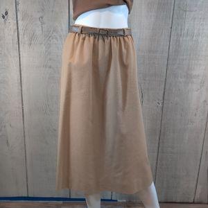 Vintage Gordon Of Philadelphia Khaki Skirt Size 14